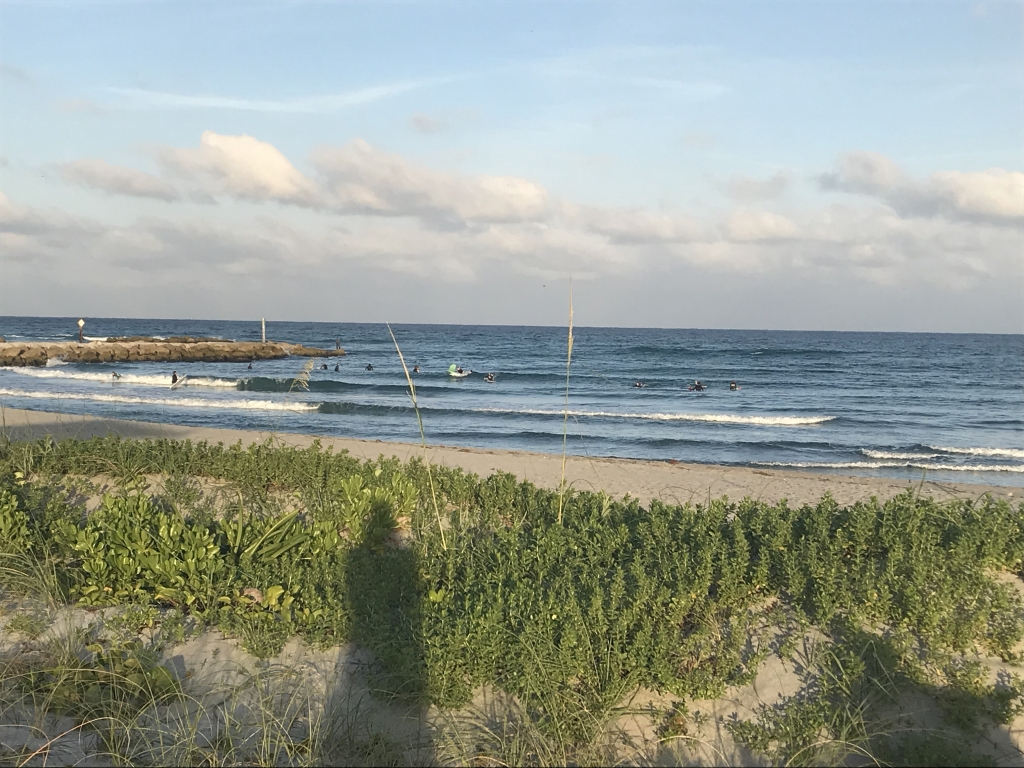 Knee high surf in Boca Raton