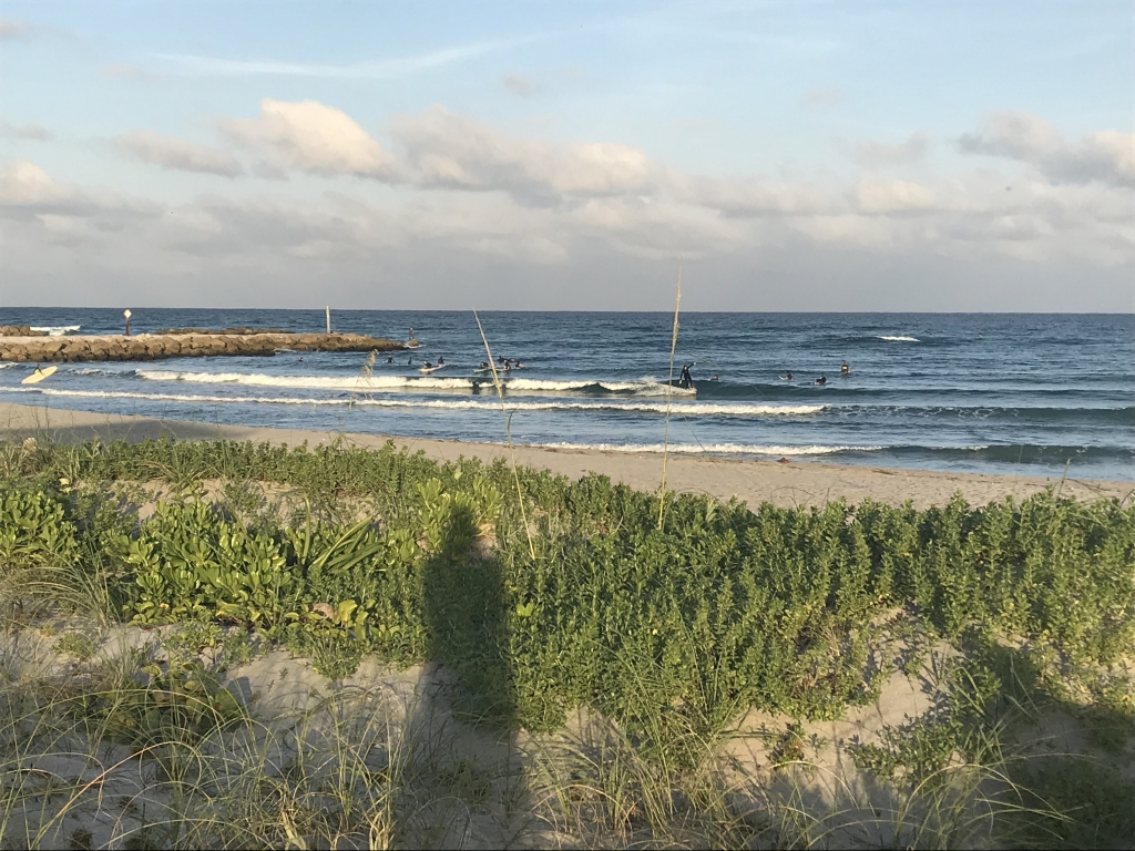 Surfing in Boca Raton, FL - Toes to the Nose!