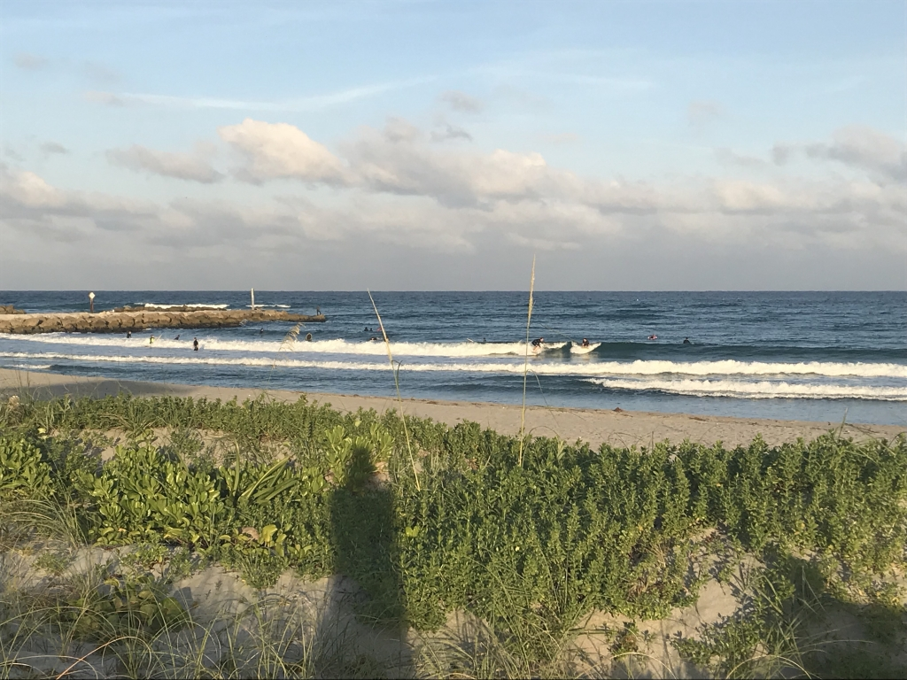 Mini waves to surf in Boca Raton, FL