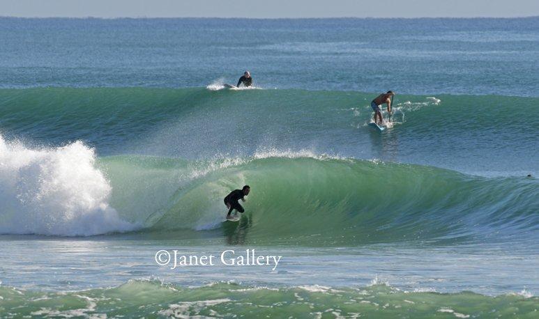 surfer on a clean insider barrel winter storm riley